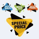 Special offer, up to 75 off, vector illustration. Hot Sale and Hot Deal banners, special offer, up to 75 off, vector illustration text,  vector,  vibrant Stock Image