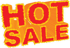 Hot Sale. An illustration of a fiery hot sale announcement Royalty Free Stock Images