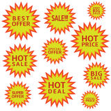 Hot sale labels Stock Photography