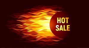 Hot sale offer on fire background. Eps8. RGB. Global colors Stock Photos
