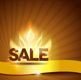 Hot sale poster, beautiful bright design Stock Photos