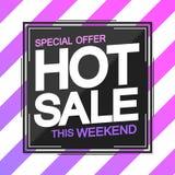 Hot Sale, poster design template, special offer, vector illustration. Hot Sale, poster design template, special offer, extra discount, vector illustration stock illustration