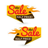 Hot sale price offer deal vector labels templates stickers desig Royalty Free Stock Images