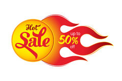 Hot sale price offer deal vector labels templates stickers desig. Ns with flame. Vector illustration Stock Image
