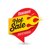 Hot sale price offer deal vector labels templates stickers desig. Ns with flame. Vector illustration Stock Photography