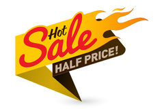 Hot sale price offer deal vector labels templates stickers. Designs with flame. Vector illustration Stock Photos