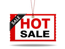 Hot sale shopping tag 3d illustration Royalty Free Stock Image