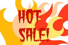 Hot Sale Sign Royalty Free Stock Image
