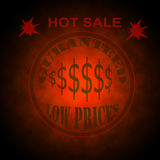 Hot Sale Sign with Low Prices Stock Photos