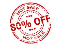 Hot sale. Stamp with text hot sale inside,  illustration Royalty Free Stock Image