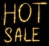 Hot Sale text made of sparkler Stock Photos
