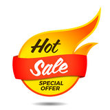 Hot sale vector flaming label Royalty Free Stock Images