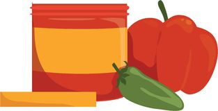 Hot Salsa Royalty Free Stock Images