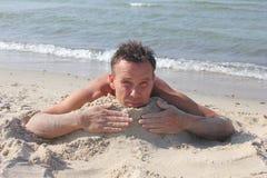Hot sand beach Stock Photography