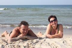 Hot sand beach Royalty Free Stock Photos