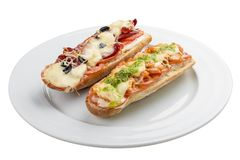 Hot sandwich stock photography