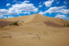 Hot sandy desert Royalty Free Stock Photography
