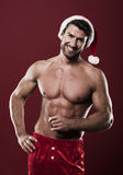 He is hot santa claus Stock Photo