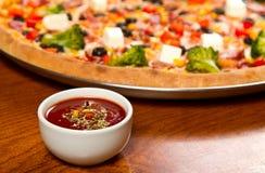 Hot sauce stock photo