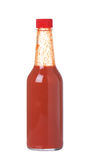 Hot Sauce In Glass Bottle Royalty Free Stock Photography
