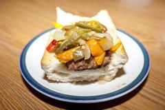 Hot Sausage Grinder Stock Images