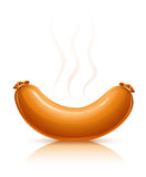 Hot sausage with smoke Royalty Free Stock Photo