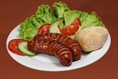 Hot sausages Royalty Free Stock Images
