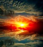 Hot scene on sunset Stock Photography