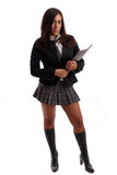 Hot schoolgirl posing Royalty Free Stock Photos