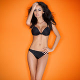 Hot sensual brunette young woman Royalty Free Stock Images