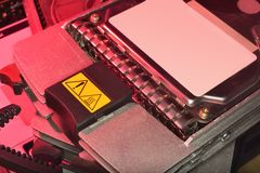 Hot server hard disk drive (hdd) Royalty Free Stock Images