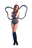 Hot sexy black angel girl Royalty Free Stock Images