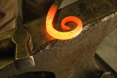 Hot shaped metal. Stock Photography