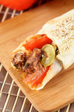 Hot shawarma with vegetables Royalty Free Stock Image
