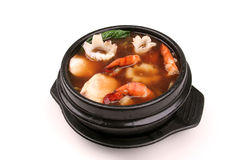 Hot shrimp soup Royalty Free Stock Image