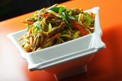 Hot Singapore style noodles Stock Photography