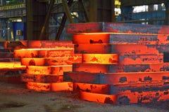 Hot slab stack. Industry steel, Hot slab stack royalty free stock images