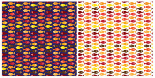 Hot small fish pattern Stock Photos