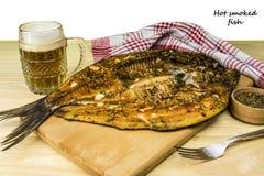 Hot smoked fish Royalty Free Stock Photography