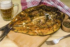 Hot smoked fish Stock Photo