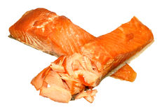 Hot Smoked Salmon Fillets Royalty Free Stock Images