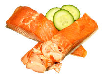 Hot Smoked Salmon Fillets Royalty Free Stock Photography