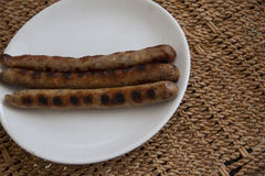 Hot smoked sausages Royalty Free Stock Image