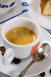 An hot smoking italian espresso coffee Royalty Free Stock Photo