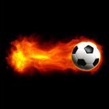 Hot soccer ball Stock Photos