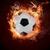 Hot soccer ball Stock Images