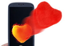 Hot and soft valentines messages Stock Images