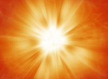 Hot solar burst background. Background design of bright exploding heat energy Royalty Free Stock Photo