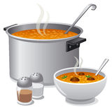 Hot soup. Illustration of the hot soup Stock Photos