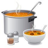 Hot soup Stock Photos